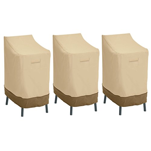Classic Accessories 55-642-011501-3PK Veranda Patio Bar Chair/Stool Cover (3-Pack) by Classic Accessories