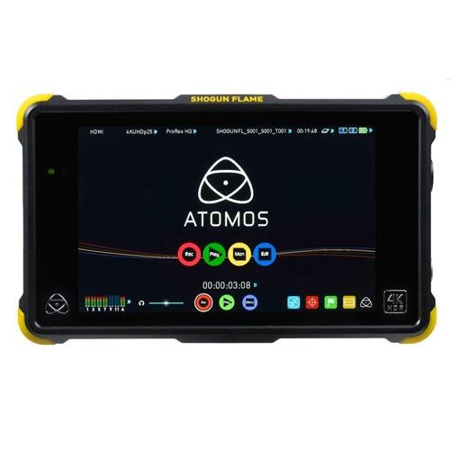 Atomos Shogun Flame Kit (includes 7-inch 10-bit AtomHDR 1500nit Field Monitor plus full accessories) ATOMSHGFL1 by Atomos
