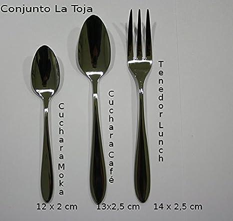 Cubertería La Toja (6 Cucharas Moka + 6 Cucharas Café + 6 tenedores Lunch)