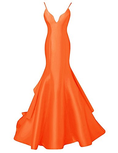 Amore Wedding Dress Orange Bridal Women's Spaghetti Mermaid Long Prom Straps Dress xzzBvwrqW8