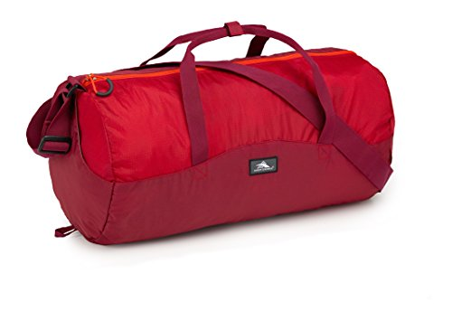 High Sierra Pack-N-Go 2 18L Duffel in a Bottle, Brick Red/Carmine/Red Line