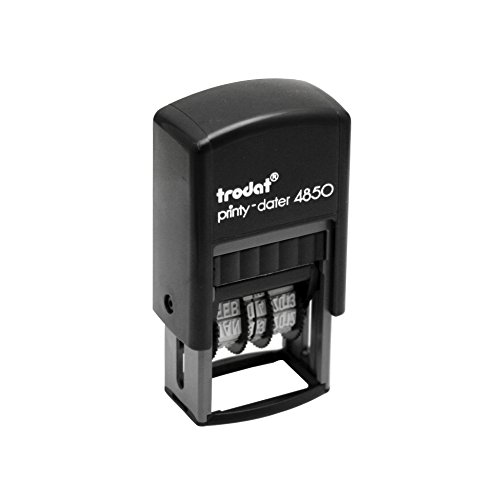 - Trodat Economy Self-Inking 5-in-1 Micro Message Date Stamp, Approved, Copy, Entered, and Scanned (E4853L)
