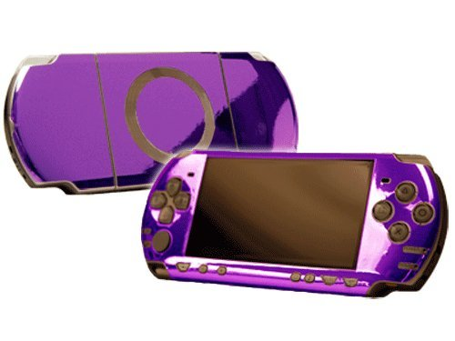 Sony PlayStation Portable 2000 (PSP-Slim) Skin - NEW - PURPLE CHROME MIRROR system skins faceplate decal mod