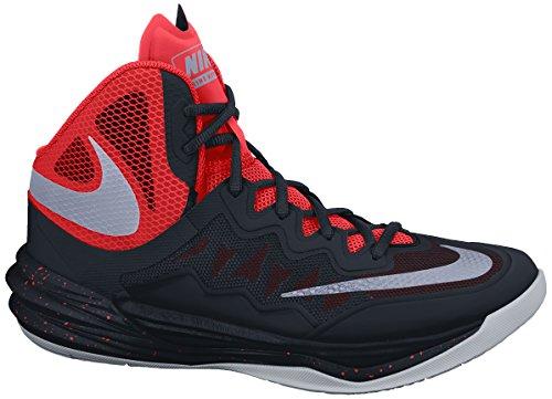 Nike Mens Prime Hype Df Ii Scarpe Da Basket Nere / Brillanti Cremisi / Mango Brillante / Riflettono Argento