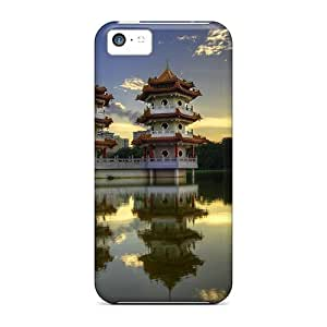 Iphone 5c Hard Back With Bumper Silicone Gel Tpu Case Cover Chinese Houses