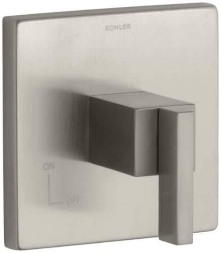 [KOHLER K-T14674-4-BN Loure Volume Control Trim, Vibrant Brushed Nickel] (Complete Traditional Lever Tub)