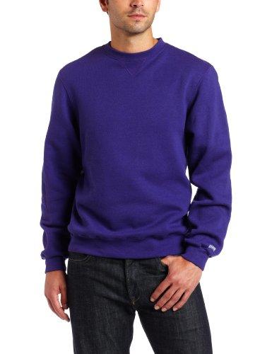 Soffe Men's Training Fleece Crew Sweatshirt, Purple, XX-Large