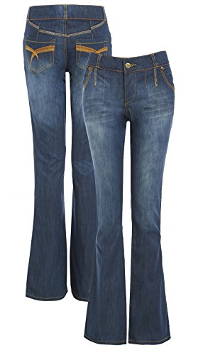 Vaqueros Denim Mid Cut Boot Mujer Para Ss7 Pantalones gdxwqvS7