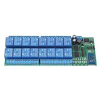 DC 12V 16 Channel Bluetooth Relay Board Wireless Remote Control