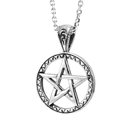 (Urban Jewelry Powerful Pentacle Necklaces Pentagram, Seal of Solomon Pendant (Gift Box))