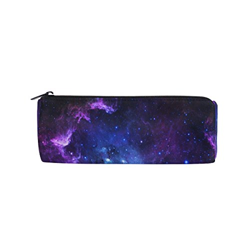 ALAZA Purple and Blue Galaxy Pencil Pen Case Pouch Bag with