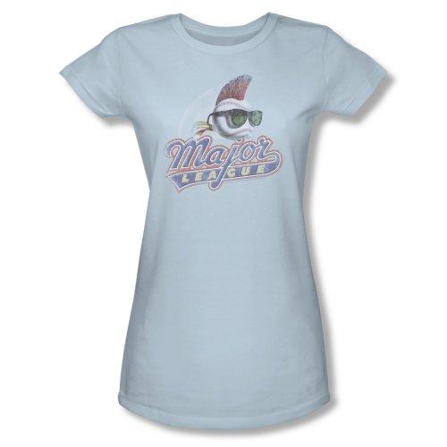Major League - Frauen Distressed Logo T-Shirt in hellblau Light Blue NPbs7Ql6p