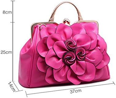 WYPT Neue Tasche Rose Flower Lady Handtasche Stilvolle lässige Ein-Schulter-Tasche Rose Red