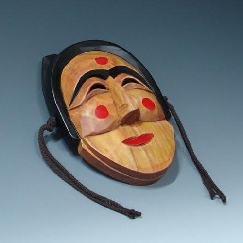 Masque D/écoration Hahoe Typique Bois Cor/ée Tradition