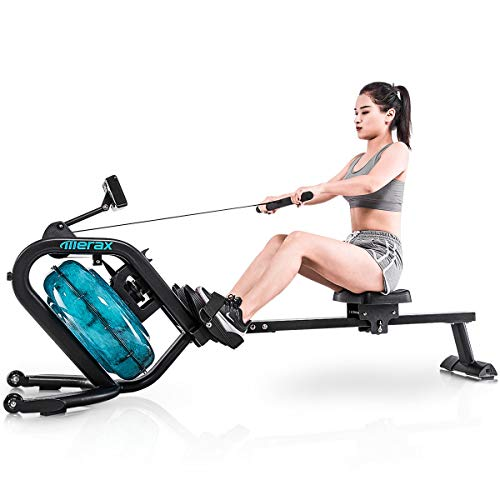 Discover Bargain Merax Water Rowing Machine – Fitness Indoor Water Rower with LCD Monitor Home Gym...