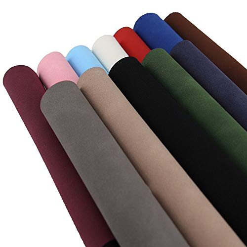 Faux Leather Fabric Suede Vinyl Craft Leather for DIY Hair Bows Headband Earrings A4 Size, 12 Colors
