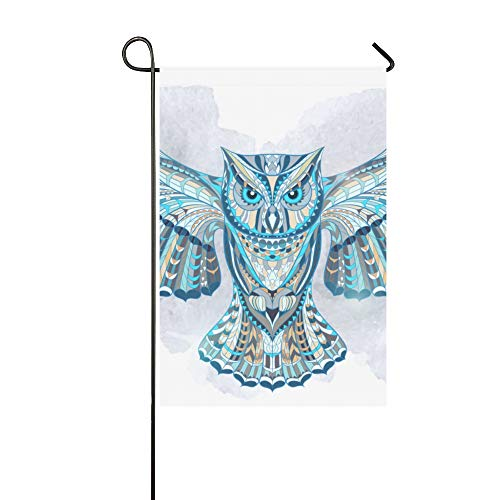 WIEDLKL Home Decorative Outdoor Double Sided Ed Owl On Grunge Garden Flag House Yard Flag Garden Yard Decorations Seasonal Welcome Outdoor Flag 12x18in Spring Summer Gift from WIEDLKL