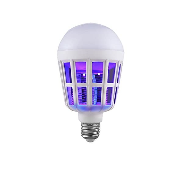NUOVA Lampadina Anti-zanzara a LED, Mecohe 15W 1000LM 6500K Elettronico Mosca Insetto Fly Bug Zanzara Killer Bulb… 2 spesavip