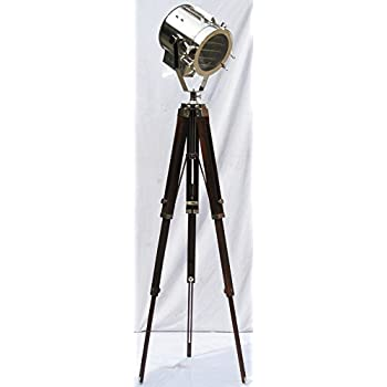 DESIGNER CHROME VINTAGE INDUSTRIAL TRIPOD FLOOR LAMP ...