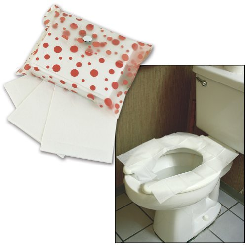 Disposable Flushable Toilet Seat Protection Covers Pouch (Set of 60) (Tissue Toilet Seat Covers compare prices)