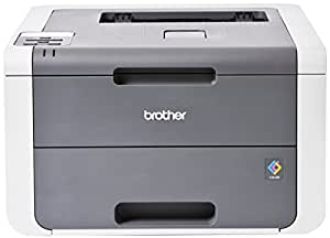 Brother HL-3140CW - Impresora láser color (WiFi, LED), color gris