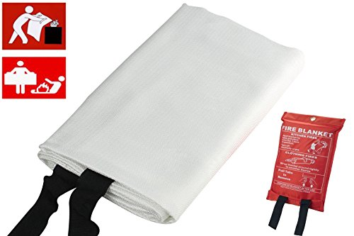 SWI parts Emergency fibre glass fire resist blanket Size:39.35x39.35'' (Medium) by SWI
