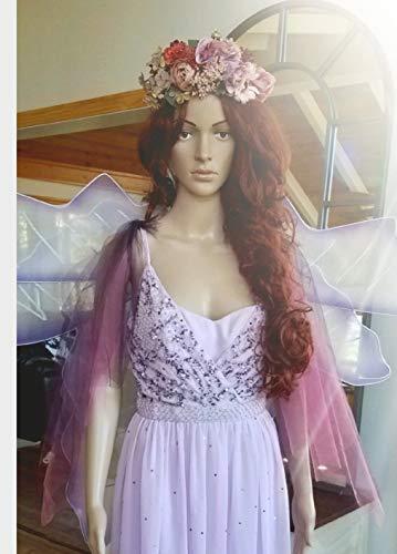 Ladies Plum Fairy Deluxe Halloween Costume, Complete, Wings, Unique, Elegant, Avant Garde Small ()