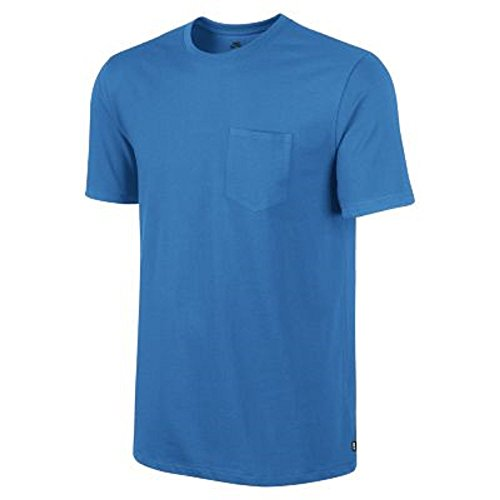 Nike SB Mens Dri-Fit Solid Pocket Athletic Tee Marina Blue 667617-422 (XX-Large, Marina Blue)