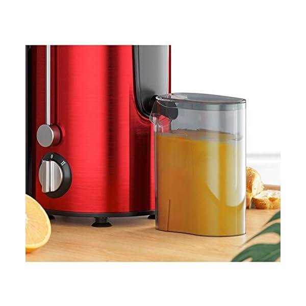 Zmsdt Juicer Sali estrattore di succo in bocca, velocità centrifuga spremiagrumi macchina for la frutta e Piedi Vegs, antiscivolo, BPA-free, facile e veloce Clean (Color : Red) 2 spesavip