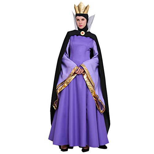 CosplayDiy Women's Costume Dress for Snow White Evil Queen M
