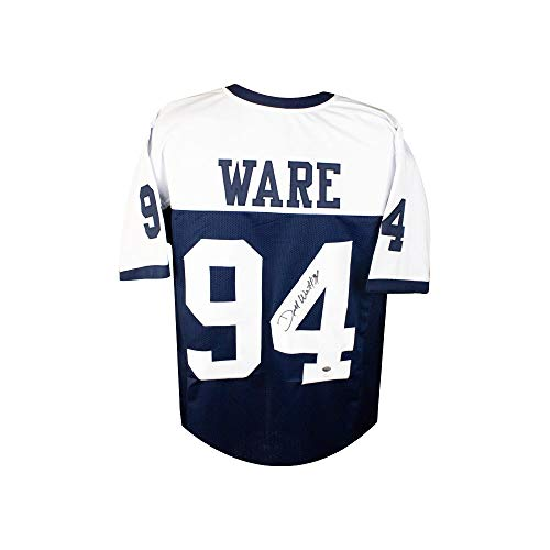 DeMarcus Ware Autographed Dallas Cowboys Custom Thanksgiving Football Jersey JSA