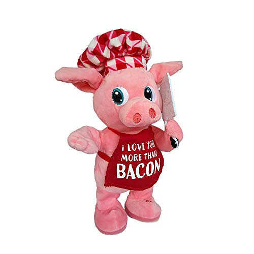 RDC Singing Dancing Animated Plush Pig Stuffed Animal - Valentines Gift for Her