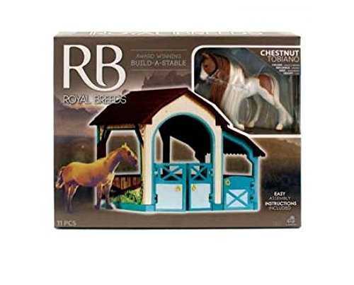 Royal Breeds Build-A-Stable Chestnut Tobiano mini horse (Horse Stable Mini)