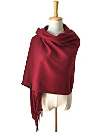 Solid Color Pashmina Blanket Scarf Large Winter Wrap Shawl for Women Men