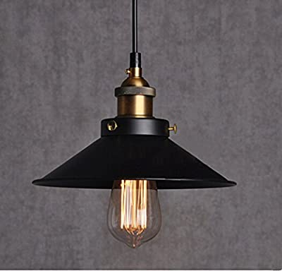 E26 E27 Base Industrial Vintage Retro Edison Loft Pendant Light 1-Light Pendant light shade Modern Fashion Ceiling Lamp Iron Umbrella Shade Country Style Lamp Matte Pendant Lamp