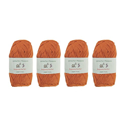 Lace Weight Tencel Yarn - Delightfully Fine - 60% Bamboo 40% Tencel Yarn - 4 Skeins - Col 23 Amber ()
