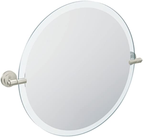 Moen DN0792BN Iso 22-Inch x 22-Inch Frameless Pivoting Bathroom Tilting Mirror, Brushed Nickel