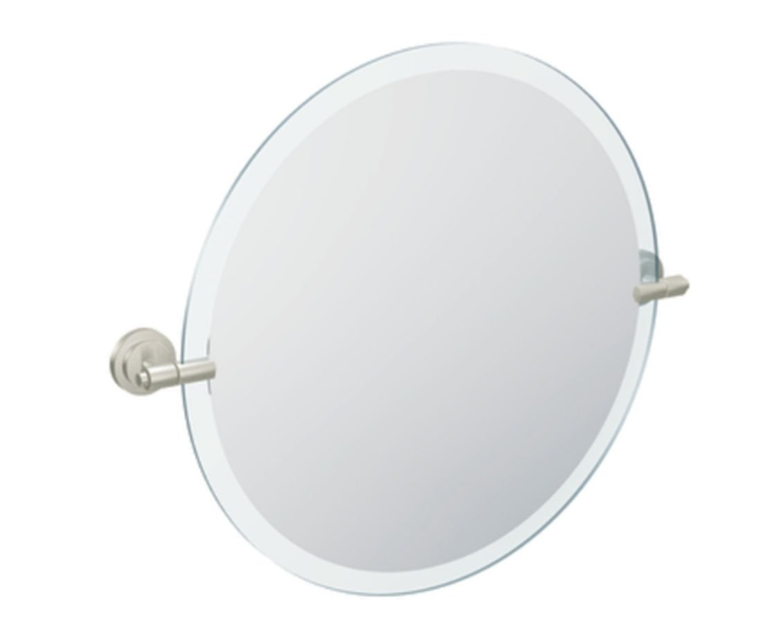 Moen DN0792BN Iso 22-Inch x 22-Inch Frameless Pivoting Bathroom Tilting Mirror, Brushed Nickel by Moen
