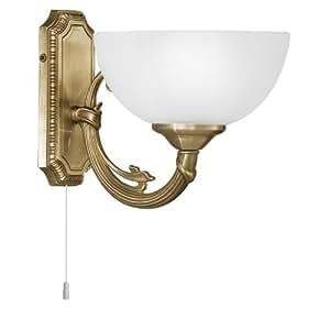 Eglo Savoy - Lámpara (Cepillado, Dormitorio, Salón, Interior, E14, 40W, Color blanco) Bronce