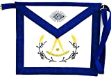 D3560 Apron Masonic Past Master with Colored Wreath