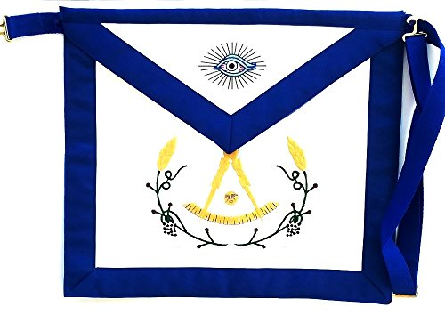 D3560 Apron Masonic Past Master with Colored Wreath by DEAN & ASSOCIATES