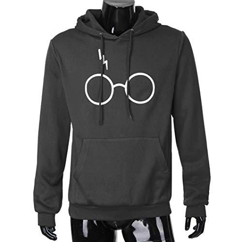 2018 Moda Sudadera con Capucha de Otoño Invierno Blusa para Hombre Chaqueta de Traje de Invierno Camiseta de Manga Larga Blusa Deportivas Pollover Outwear ...