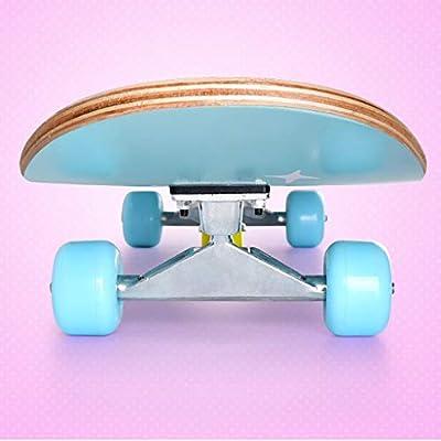 GuanMun Children Skateboard Beginner Adult Teen Boys and Girls Four-Way Brush Street Double Rocker Skateboard Fashion Cute (Color : A) : Sports & Outdoors