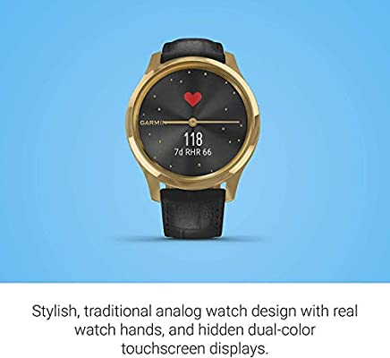 Amazon.com: Garmin Vivomove 3 Luxe Hybrid Smartwatch and ...