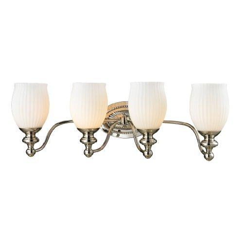 "ELK Lighting 11643/4 Park Ridge Collection 4 Bath Light, 9 x 26 x 8"", Polished Nickel"