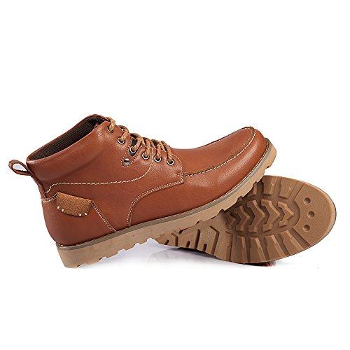 Shenn Menns Ankelen Uformell Arbeidsplass Skinn Chukka Boots Tan