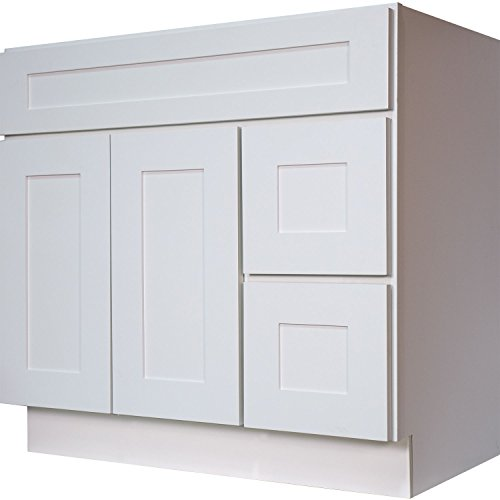Everyday cabinets swhvsd3621dl bathroom vanity single sink for Cost of new cabinet doors and drawers