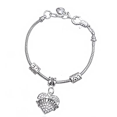 cheap Bling Stars Family Members Crystal Heart Mom Love Charms Bracelets save more