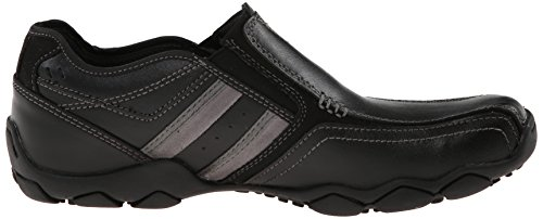 Skechers Heren Diameter-zinroy Slip-on Loafer Zwart Leer