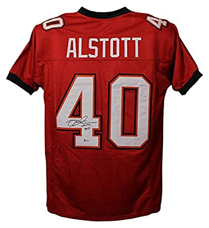 0093ea2e8 Image Unavailable. Image not available for. Color: Mike Alstott  Autographed/Signed Tampa Bay Buccaneers XL Red Orange Jersey BAS